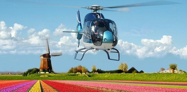 Meer dan 50% korting op een helikoptervlucht boven de Bollenstreek. Vlieg voor slechts € 59,99!